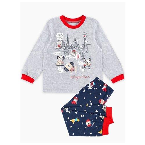 Фото - Пижама Веселый Малыш размер 92, серый/темно-синий пижама веселый малыш размер 92 серый синий