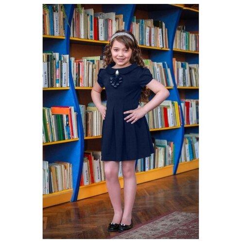 Купить Платье Ladetto 1С5 размер 32-134, темно-синий, Платья и сарафаны