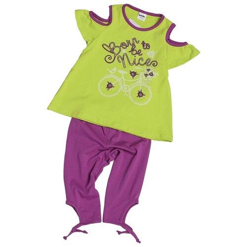 Комплект одежды looklie размер 98-104, салатовый комплект одежды looklie размер 98 104 изумрудный