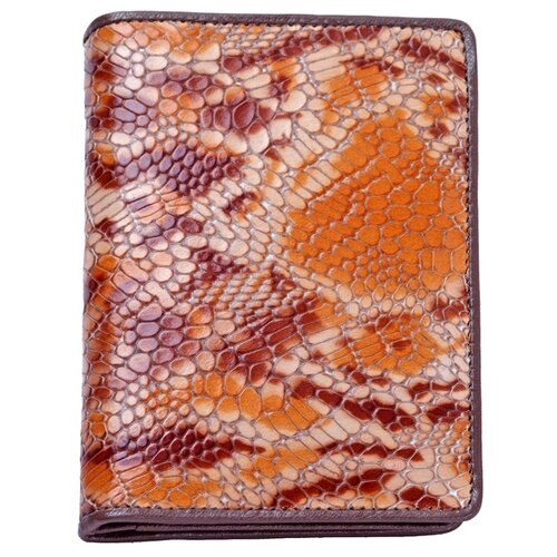 """Обложка для автодокументов Dr.Koffer """"Змеиная кожа"""" X510138-22-61, коричневый"""