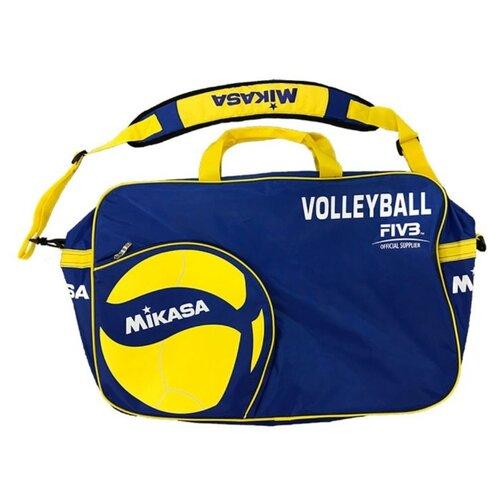 Сумка для переноски волейбольных мячей Mikasa AC-BG260W-BL, синий/желтый