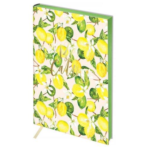 Ежедневник Greenwich Line Vision. Lemon недатированный, искусственная кожа, B6, 136 листов, желтый/зеленый
