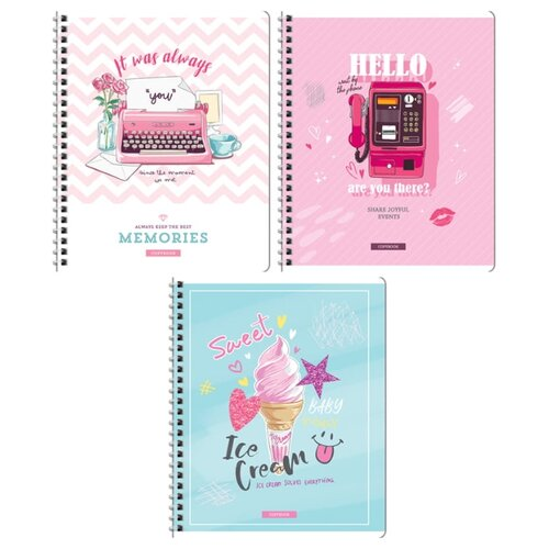 Купить ArtSpace Упаковка тетрадей Стиль. Girl's notes Т96спкТЛ_29899 6шт./3 дизайна, клетка, 96 л., Тетради