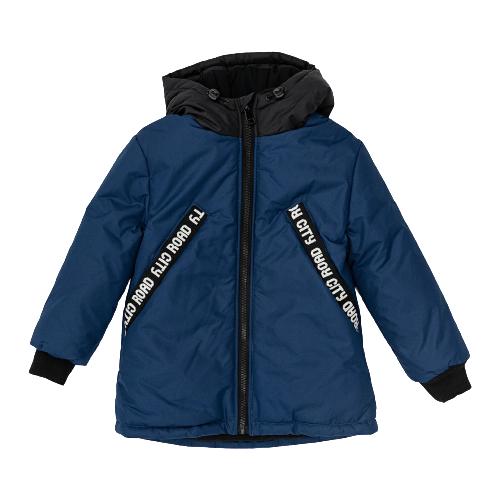 Купить Куртка Button Blue размер 128, синий, Куртки и пуховики