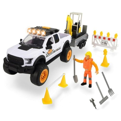 Купить Набор техники Dickie Toys Playlife 3838004 1:24 белый, Машинки и техника