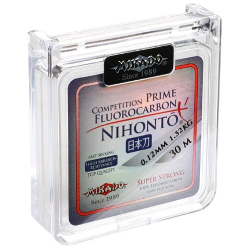 Флюорокарбоновая леска MIKADO Nihonto Fluorocarbon Prime бесцветный 0.12 мм 30 м 1.32 кг