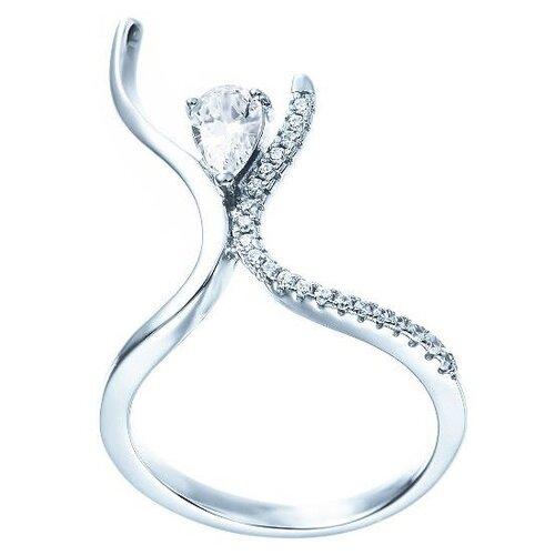 JV Кольцо с фианитами из серебра ML01881A-KO-001-WG, размер 17 jv кольцо с фианитами из серебра r25858 001 wg размер 17