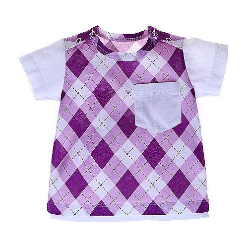 Купить Футболка Наша мама размер 74, фиолетовый, Футболки и рубашки