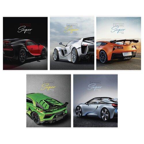 Купить ArtSpace Упаковка тетрадей Авто. Ultimate super cars Т48к_24398, 10 шт./5 дизайнов, клетка, 48 л., Тетради