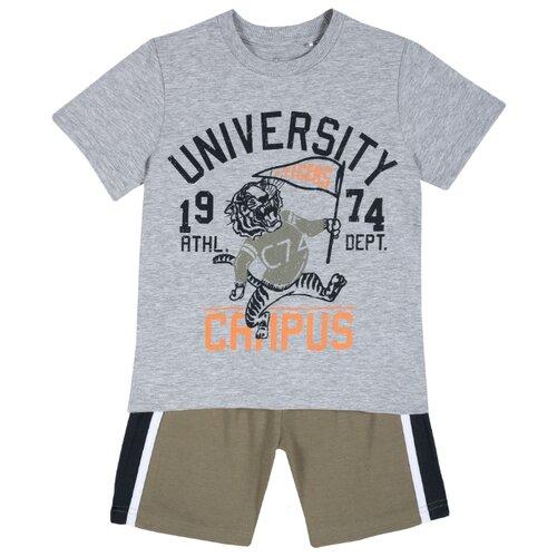 Купить Комплект одежды Chicco размер 98, серый/зеленый, Комплекты и форма
