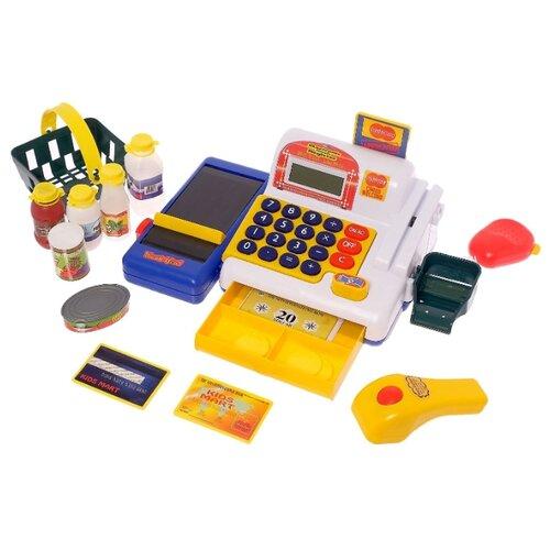 Купить Игровой набор Касса-калькулятор с аксессурами 2671043, Сима-ленд, Играем в магазин