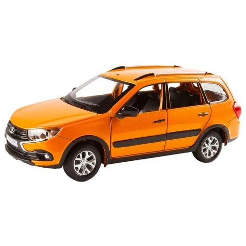 Купить Легковой автомобиль Автопанорама Lada Granta Cross 1:24 оранжевый, Машинки и техника