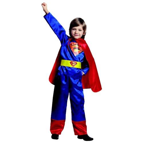 Купить Костюм Батик Супермен (8028), синий/красный, размер 158, Карнавальные костюмы
