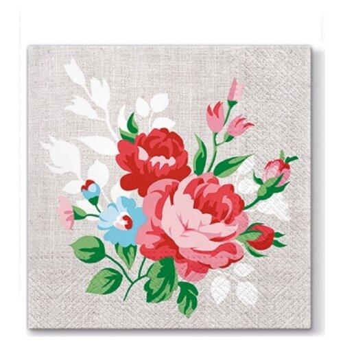 Купить PAW / Салфетки ланч 3-х слойные уп.20шт Цветы на белье, ПОЛЬША