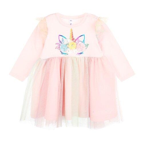 Купить Платье playToday размер 74, розовый, Платья и юбки