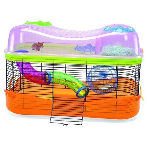 Клетка для грызунов Imac Fantasy 58х38х38.5 см прозрачный/оранжевый