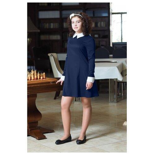 Купить Платье Ladetto 2С15 размер 36-146, темно-синий, Платья и сарафаны