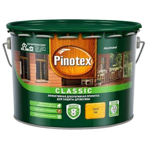 Фото - Водозащитная пропитка Pinotex Classic сосна 9 л водозащитная пропитка pinotex classic светлый дуб 1 л