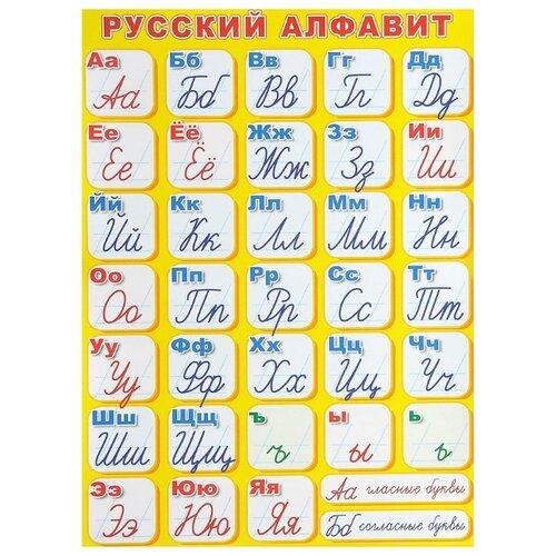 Купить Плакат Творческий Центр СФЕРА Русский алфавит (прописной) ПЛ-6129, Обучающие плакаты