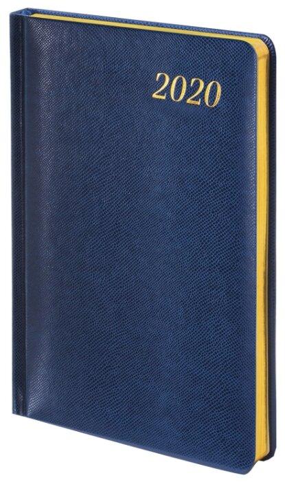 Еженедельник BRAUBERG Iguana 129646 датированный на 2020 год, А5, 64 листов, синий