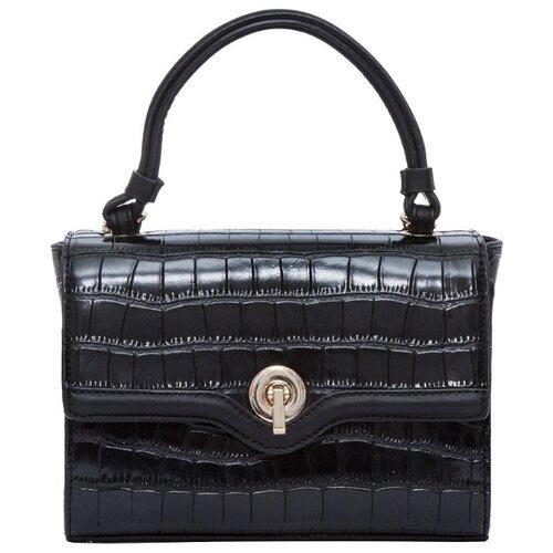 Сумка кросс-боди OrsOro, искусственная кожа, черный сумка тоут orsoro cw 967