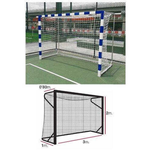Сетка для гандбола/футзала EL LEON DE ORO, 3x2+0.8+1.0 м, нить 4мм ПП, белая (11444010000)
