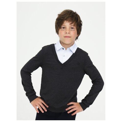 Купить Джемпер Nota Bene размер 122, темно-серый, Свитеры и кардиганы