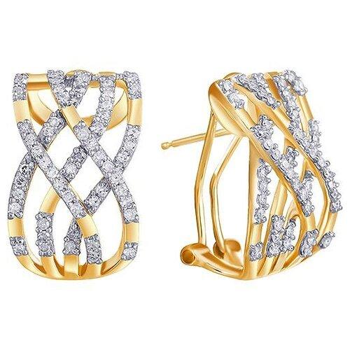 цена на JV Серьги с 106 бриллиантами из жёлтого золота KR0115CE-D-YG