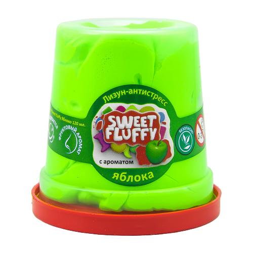 Купить Лизун Mr.Boo! Sweet fluffy с ароматом яблока зелeный, Игрушки-антистресс