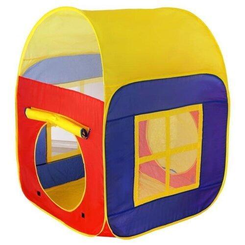 Палатка Наша игрушка Домик 8025 красный/синий/желтый игрушка