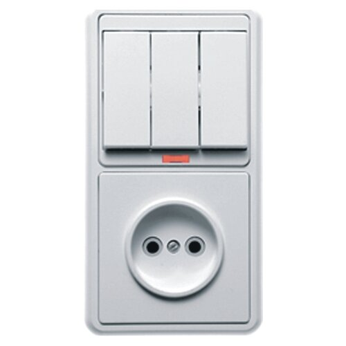 Блок комбинированный Кунцево-ЭлектроБКВР-033, белый