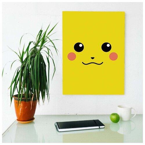 Картина Пикачу 60х80 см. синтетический холст