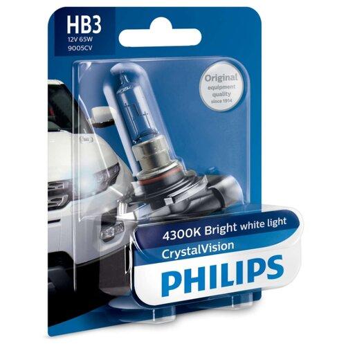 цена на Лампа автомобильная галогенная Philips Crystal Vision 9005CVB1 12V 65W 1 шт.