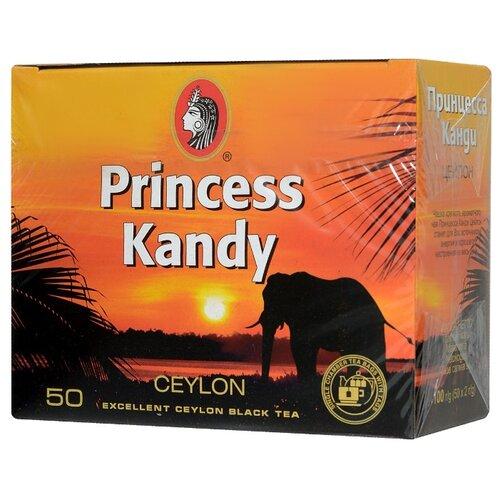 Чай черный Принцесса Канди Цейлон в пакетиках, 100 г 50 шт.