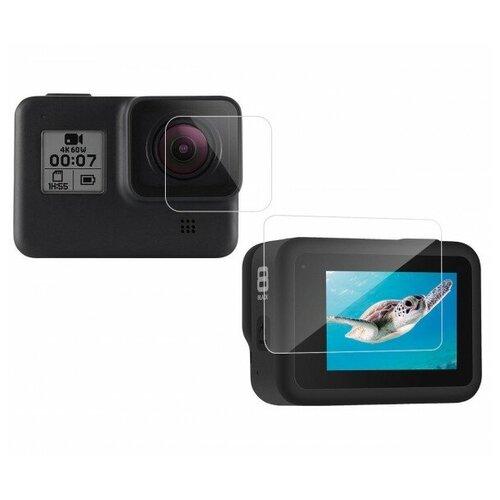 Фото - Telesin защитное стекло для линзы и экрана GoPro HERO8 двойной комплект telesin защелка с двумя креплениями для камер и аксессуаров черный