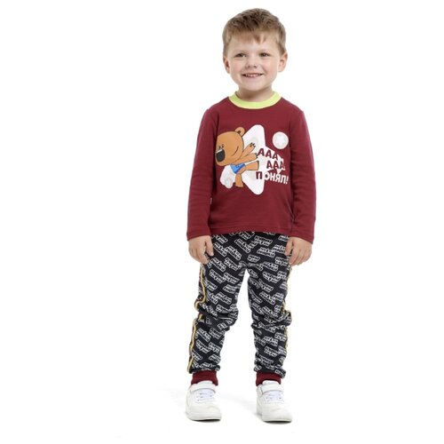 шорты для мальчика lucky child летний марафон цвет голубой 19 341 размер 86 92 Лонгслив lucky child размер 26 (86-92), бордовый