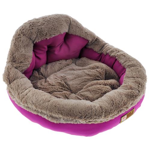 Лежак для собак и кошек Зоогурман Президент 45х45х20 см розовая фуксия