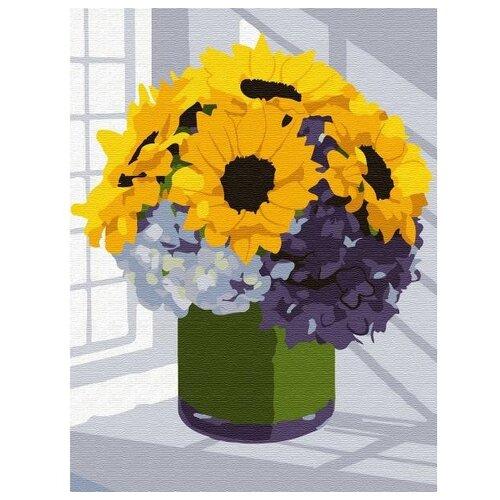 Купить Molly Картина по номерам Букет подсолнухов 15х20 см (KH0787), Картины по номерам и контурам