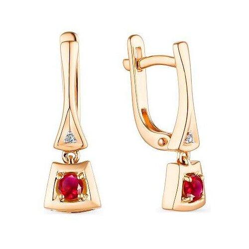 Фото - АЛЬКОР Серьги с рубинами и бриллиантами из красного золота 23541-103 алькор серьги с рубинами и бриллиантами из красного золота 23503 103