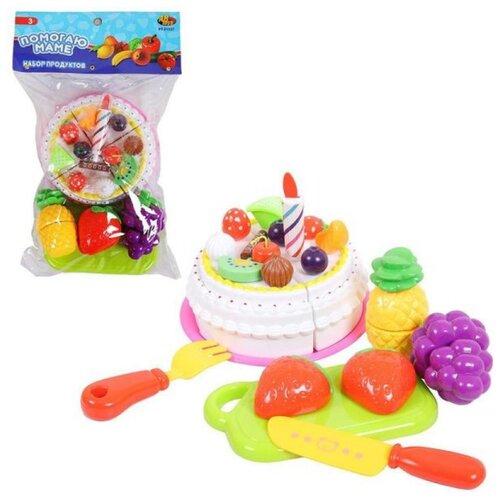 Купить Набор продуктов ABtoys PT-01327 разноцветный, Игрушечная еда и посуда