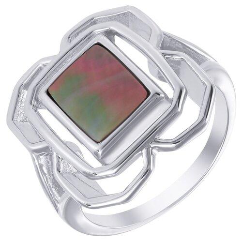 ELEMENT47 Кольцо из серебра 925 пробы с перламутром SR1927_KO_SH_WG, размер 17