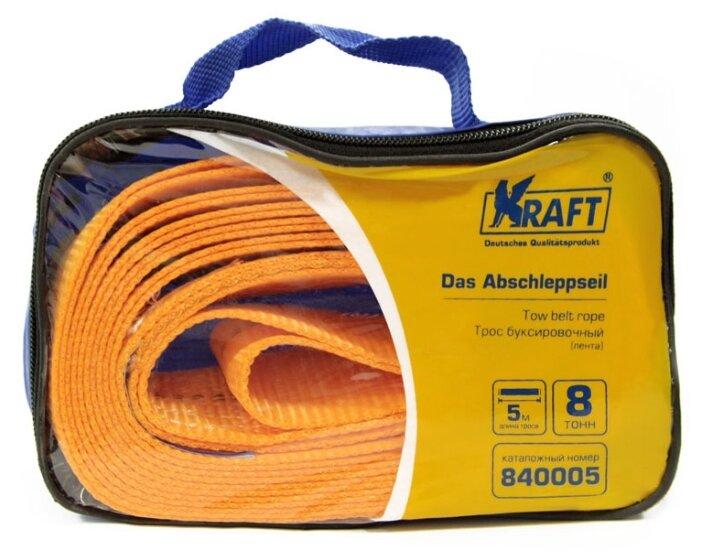 Ленточный буксировочный трос KRAFT KT-840005 (5 м) (8 т)