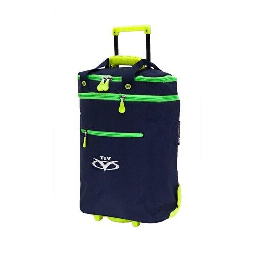 Дорожная сумка TSV на колесах 526,32 синий/лимон