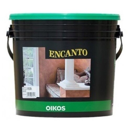 Краска Oikos Encanto silver 4 л