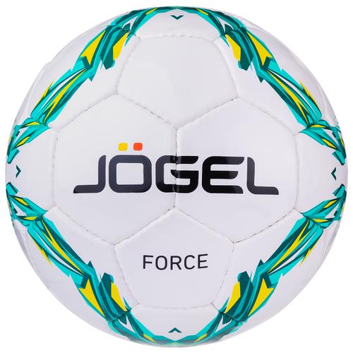 Футбольный мяч Jogel Force белый/голубой/зеленый 4