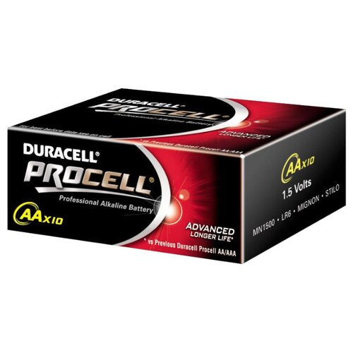 Фото - Батарейка Duracell Procell AA/LR6, 10 шт. батарейка duracell procell aaa lr03 кол во в упаковке 10 шт