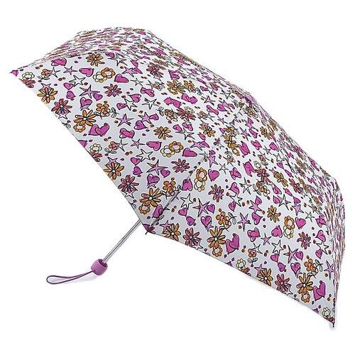 Зонт механика FULTON SketchHearts белый