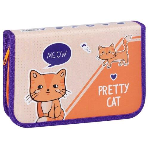 Купить ArtSpace Пенал Pretty cats (ПК1_29088) оранжевый/фиолетовый, Пеналы