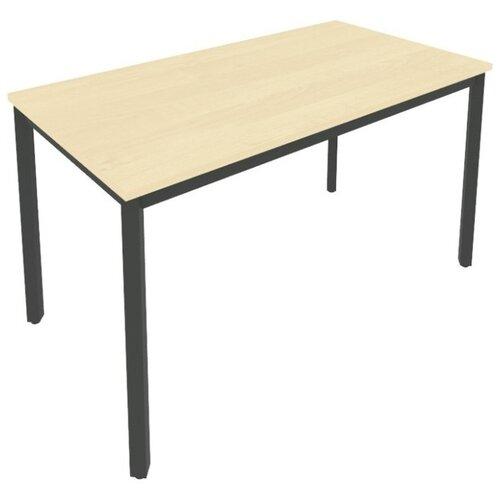 Письменный стол Рива Slim С.СП, ШхГ: 138х72 см, цвет: металл антрацит/клён