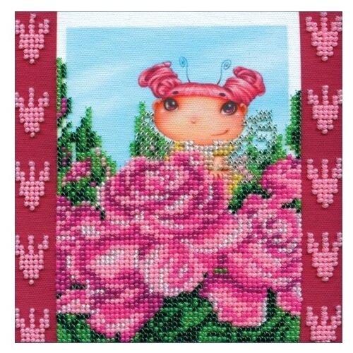 Купить ABRIS ART Набор для вышивания бисером Розовая Фея 15 х 15 см (AM-018), Наборы для вышивания